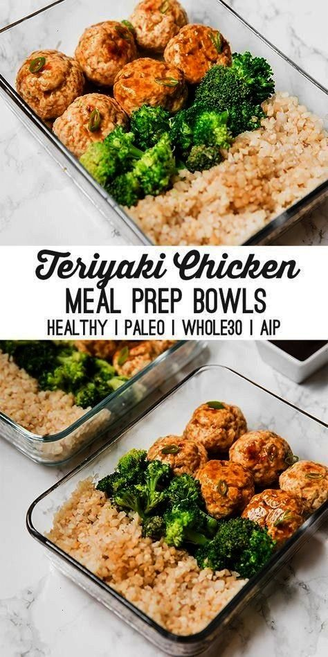 chicken meatball meal prep recipe is great for prepping on the weekend to have lunches or dinners f