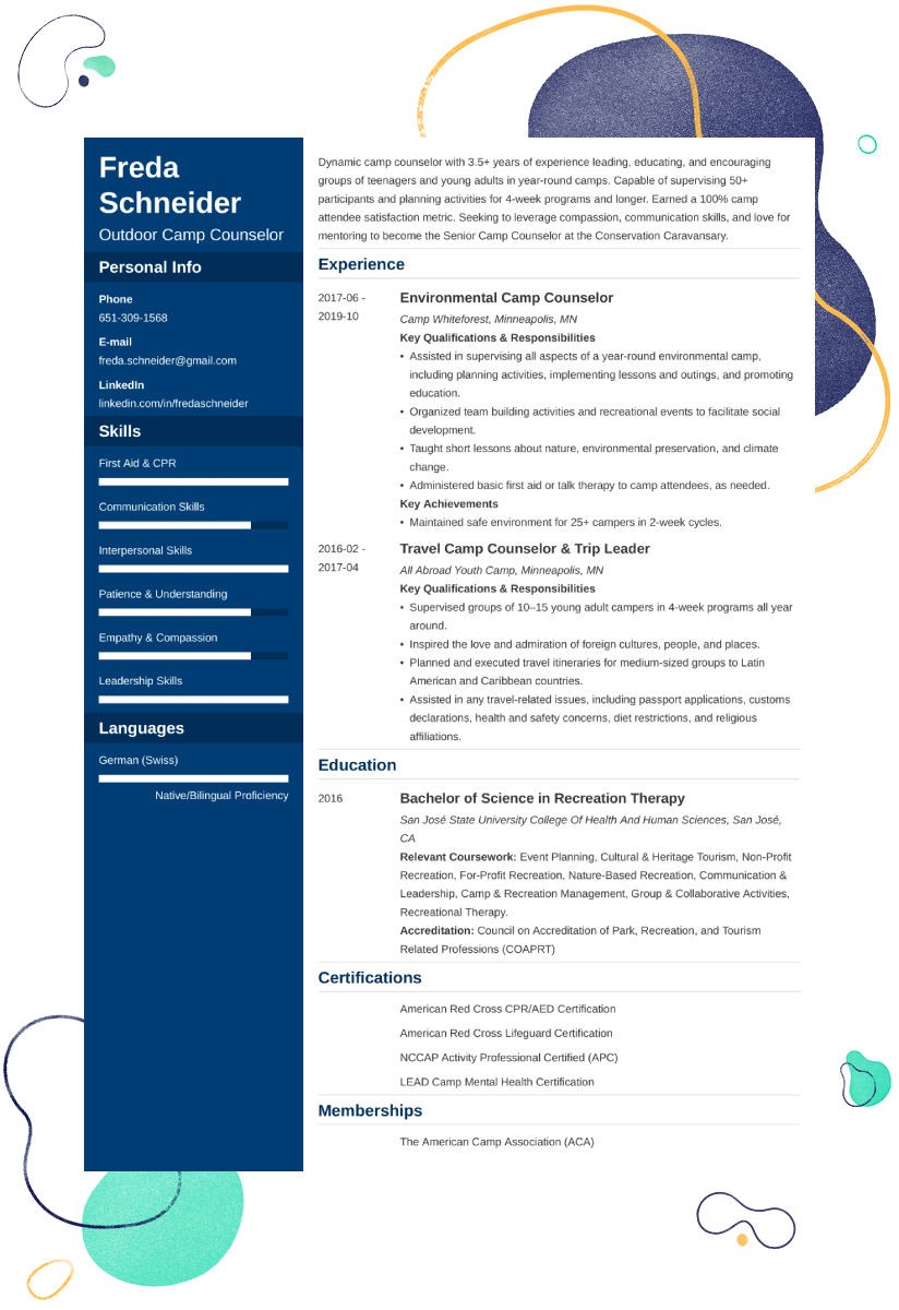 Social Worker Resume Summary Best Of Camp Counselor Resume Examples And 25 Writing Tips Resume Examples Job Resume Examples Resume Skills