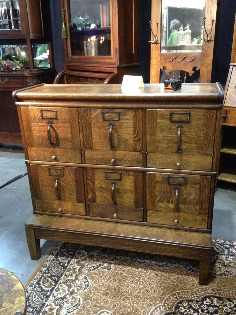 Our new Quartersawn Antique Filing Cabinet. 1910 Ish came originally from a  dentist office in