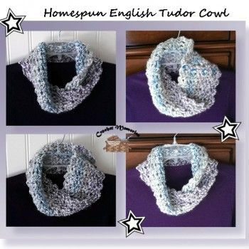 Free Cowl Pattern Using Homespun Yarn Crochet Scarves Cowls
