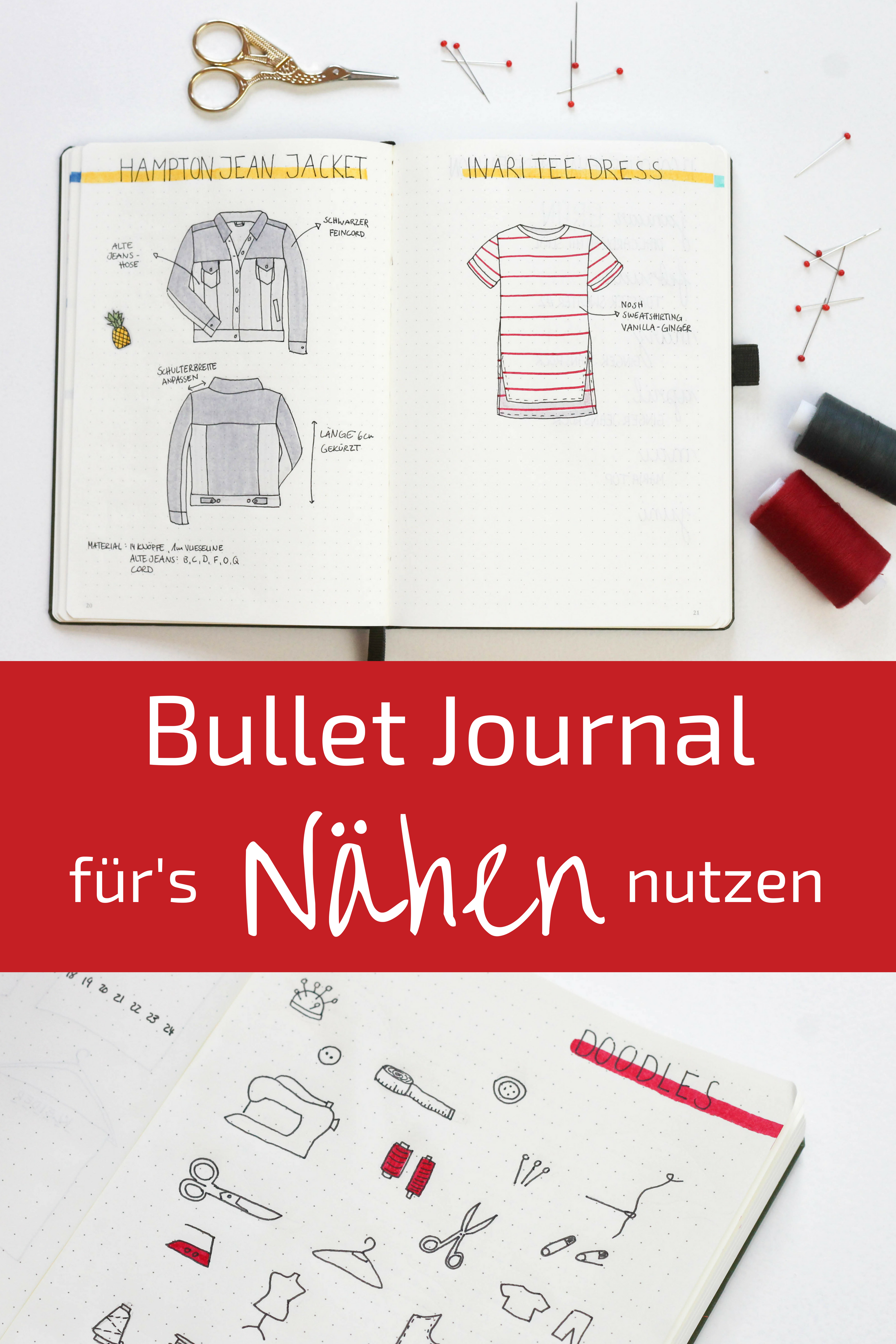 Bullet Journal als Nähplaner nutzen | Pinterest | Nähen, Nähtipps ...
