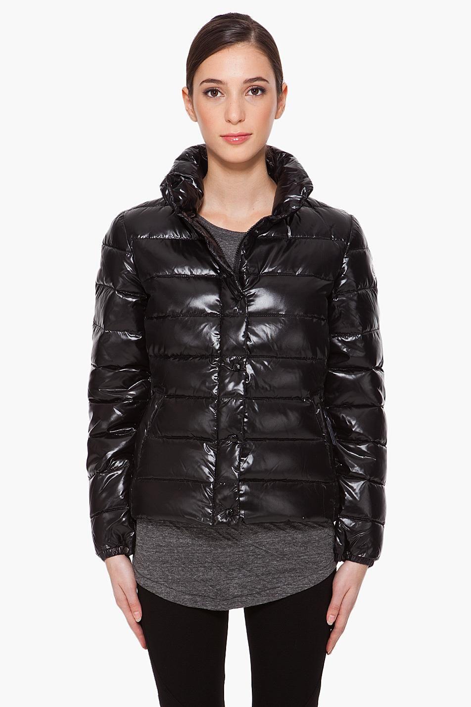 "35f68e183f7d2 Black Moncler ""Clairy"" down jacket – SHINY NYLON"