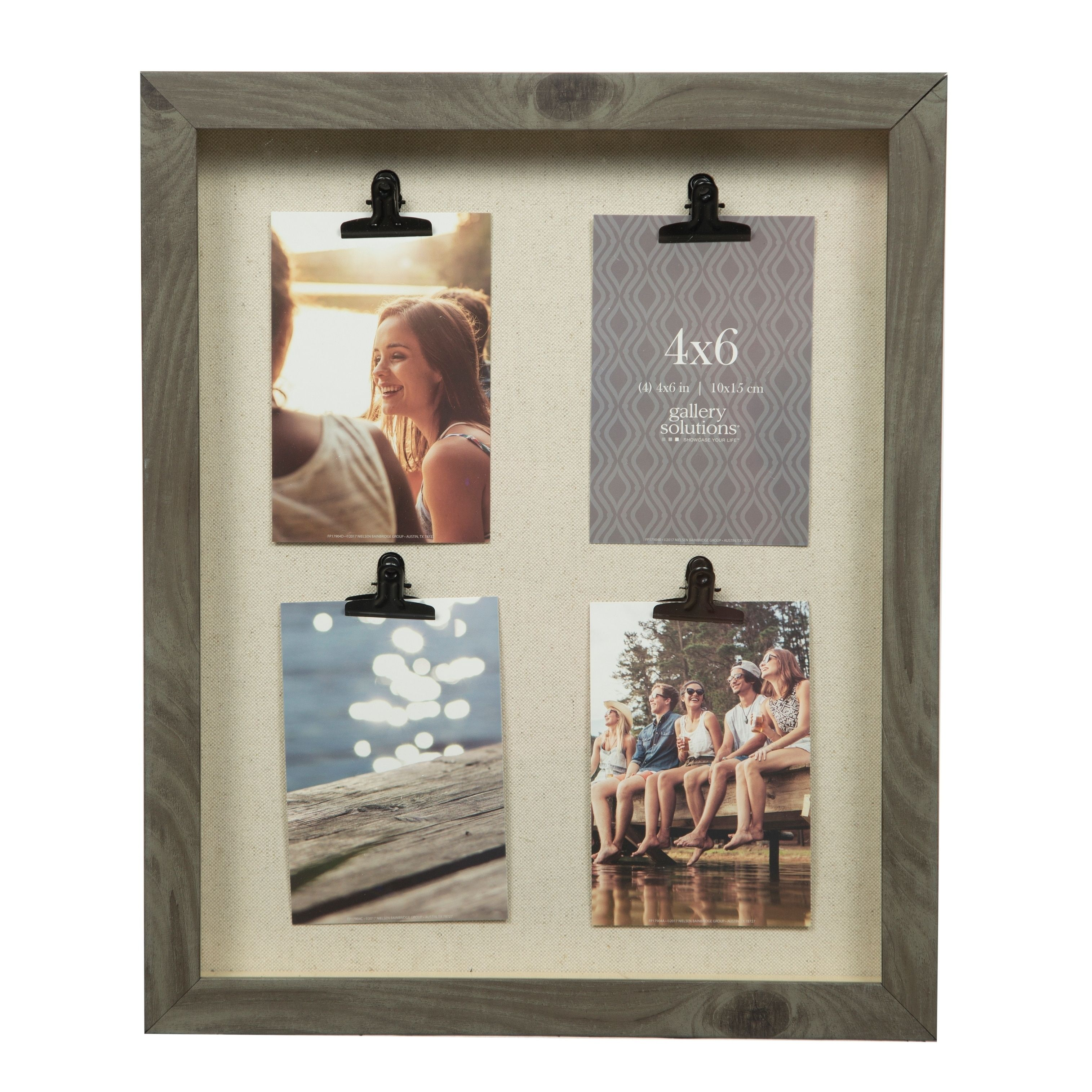 14x18 Charcoal 4 Clip Collage Picture Frame, Grey (Wood) | Products ...
