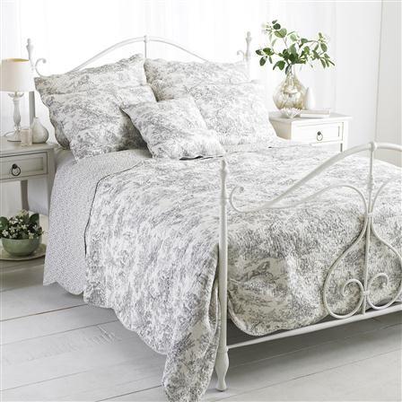 linge de lit paoletti Paoletti   Jeté de lit 240 x 260 cm, gris [Canterbury Tales  linge de lit paoletti