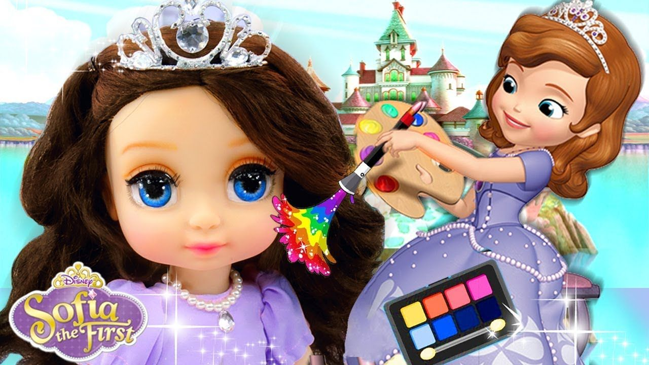 Repainting Dolls Sofia The First Doll Custom Disney Princess Makeup Disney Princess Makeup First Disney Princess Princess Makeup