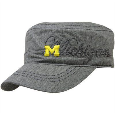 64cdb7d969d47 adidas Michigan Wolverines Women s Chambray Military Adjustable Hat - Gray