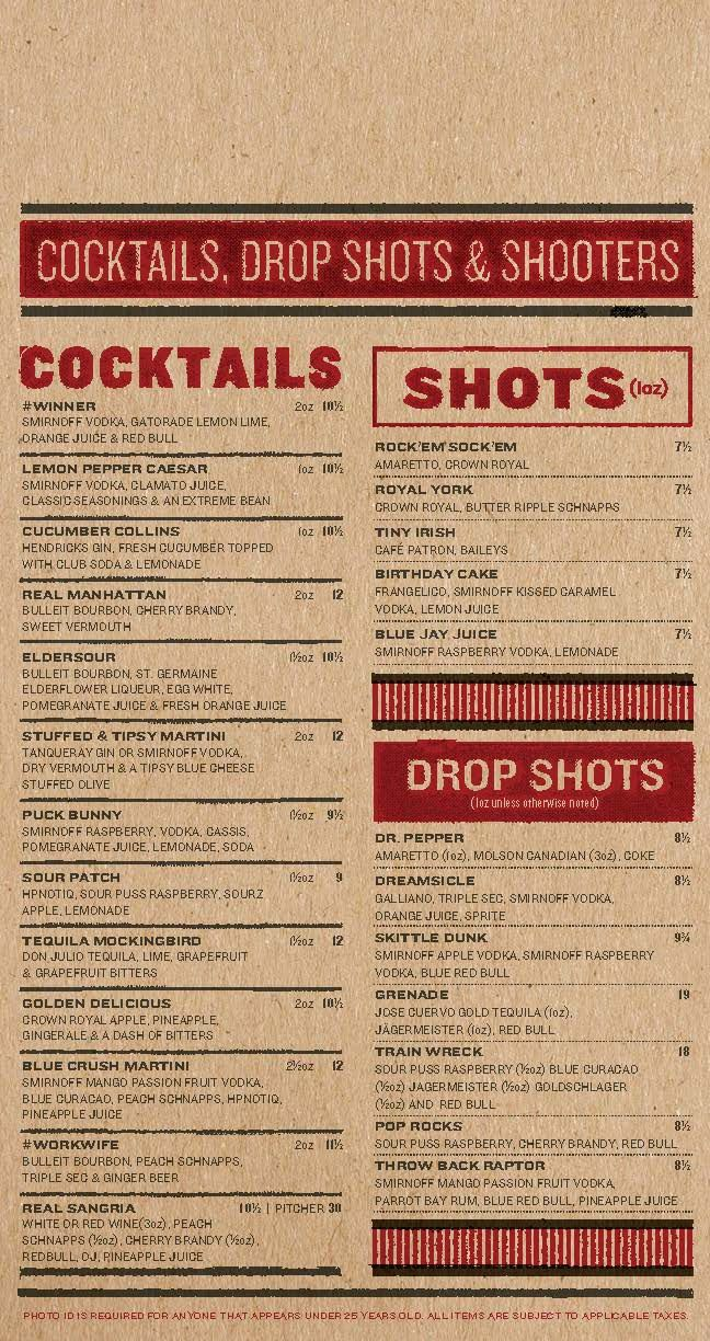Real sports bar grill menu by jarheadesign inspired