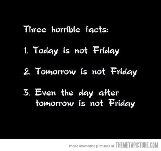 Three horrible facts... #Friday related