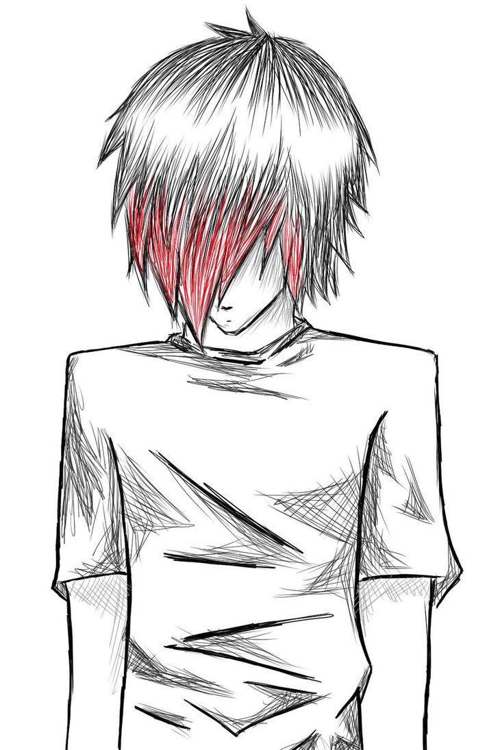 emo boys sketches Emo boy... by NatsumiNyappy on