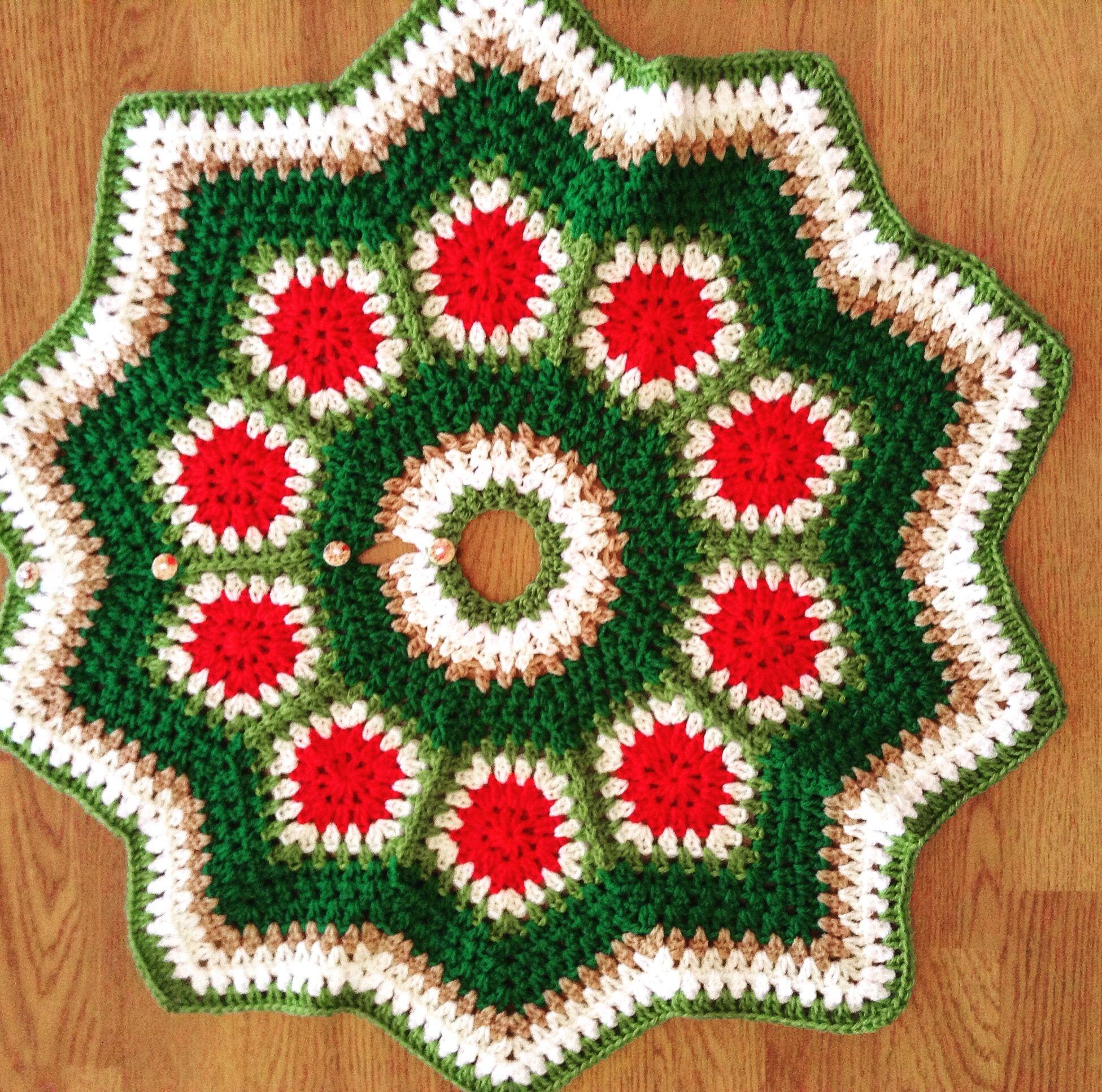 Crochet Christmas Skirt Tree Com Imagens Crochet De Natal