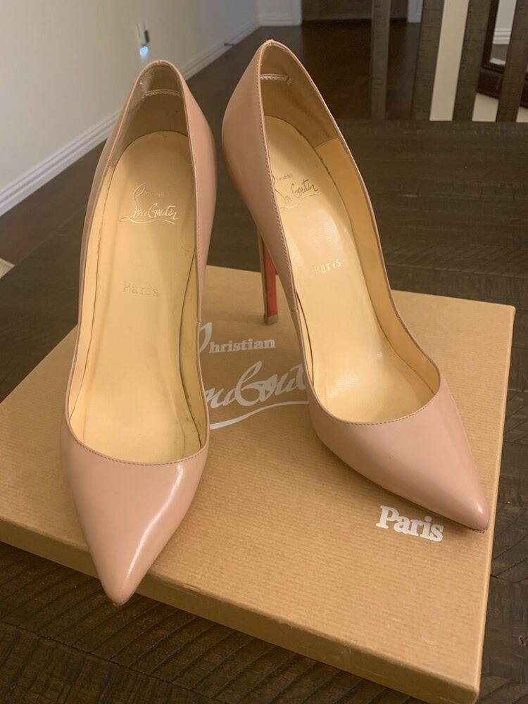 e93e5be2e72c Christian Louboutin nude 39.5 Pigalle tan red bottoms  fashion  clothing   shoes  accessories  womensshoes  heels (ebay link)
