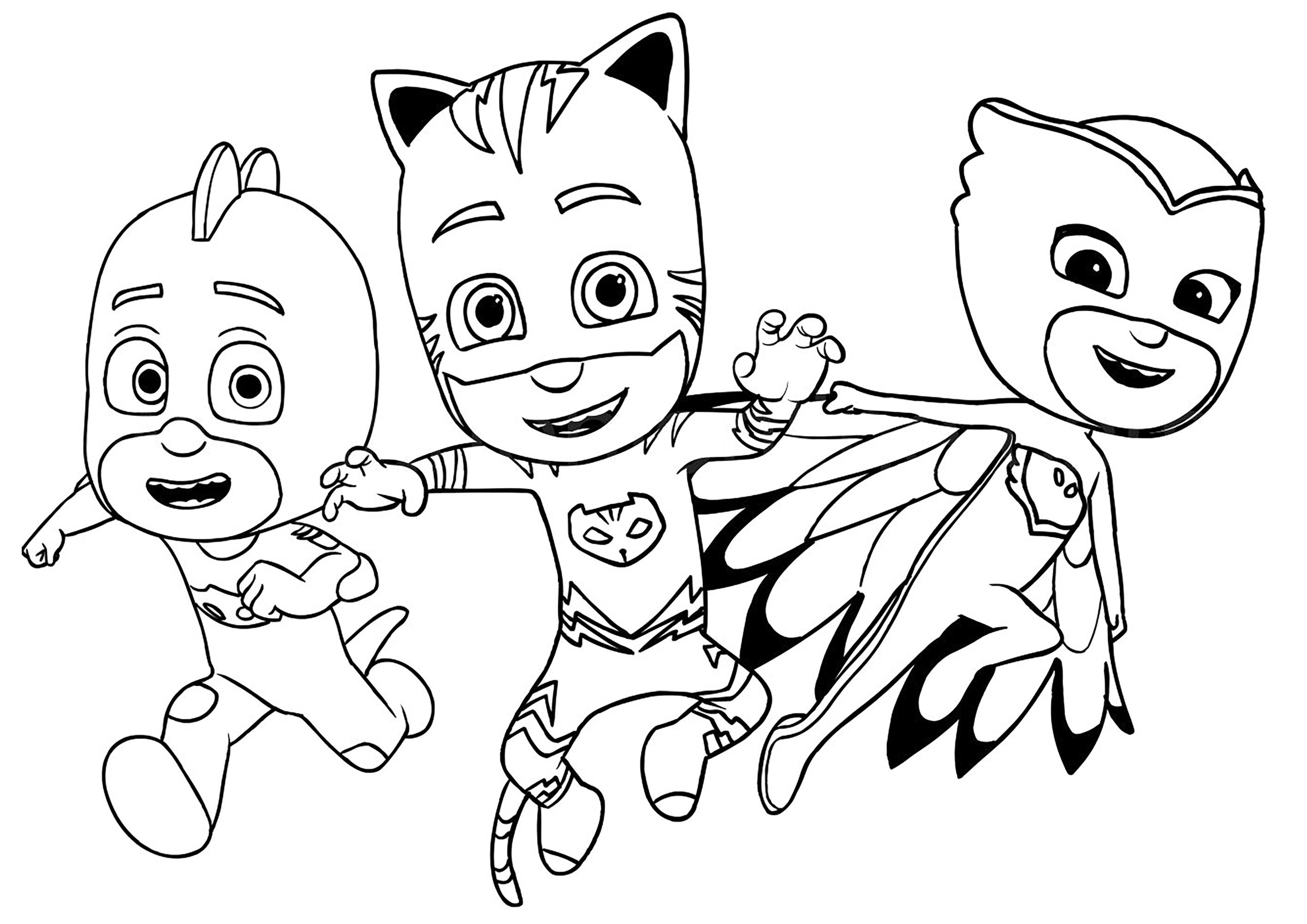 Collection Of Pj Masks Coloring Pages Idea Pj Masks Coloring