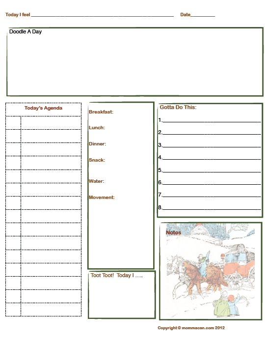 Calendar Spot May : Free printable daily planner page for winter holidays with