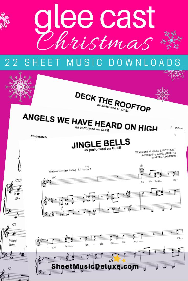 Glee cast Christmas sheet music downloads. Twenty-two Christmas song ...