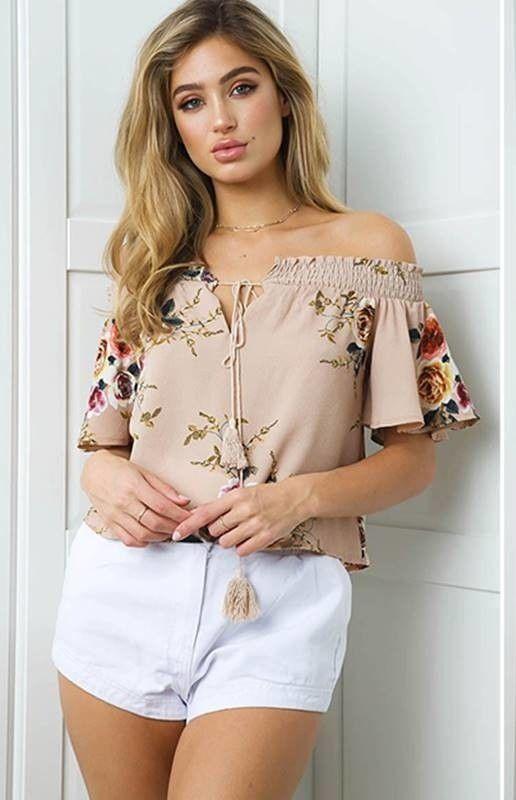 e0dd77f73 Blusa Ombro a Ombro Floral - Ref.1103 | blusa juvenil | Roupas ...