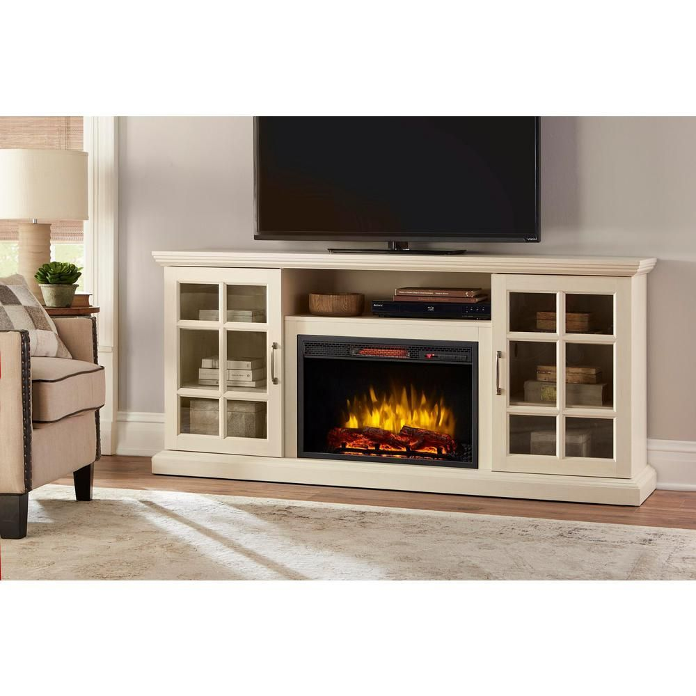 Home Decorators Collection Edenfield 70 In Freestanding Infrared Electric Fireplace Tv Fireplace Tv Stand Electric Fireplace Tv Stand Fireplace Entertainment