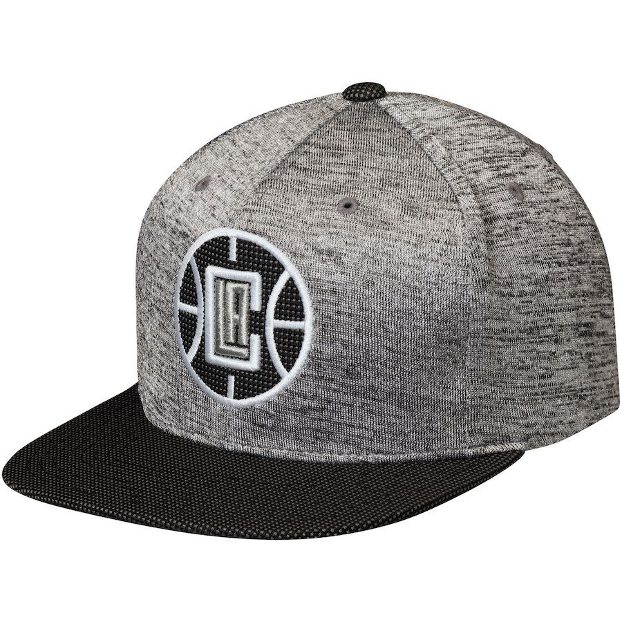 ecd3f4d44e6315 Men's LA Clippers Mitchell & Ness Heathered Gray/Black Space Knit Snapback  Adjustable Hat, Your Price: $31.99