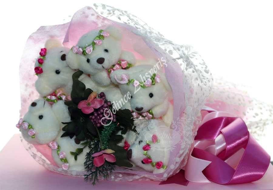 Photo of www.gelincealisve… ayıcık buketi, çiçekli ayıcık buketi, h…