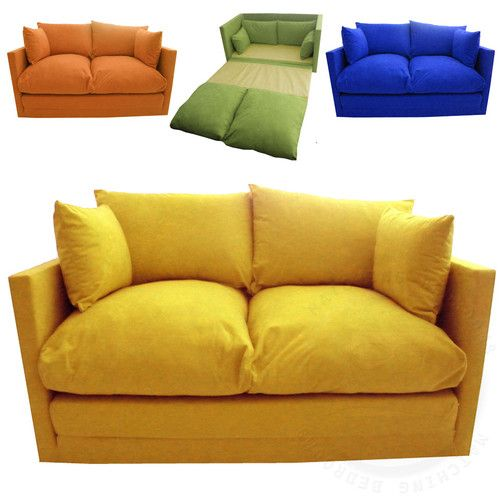 Kids Children S Sofa Fold Out Bed Boys Seating Seat Sleepover Futon Guest Ebay