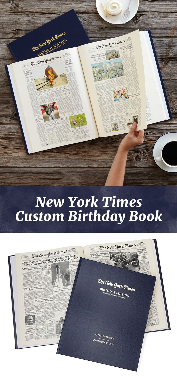 New York Times Custom Birthday Book Personalized News