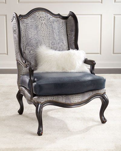 Delicieux HAXUF Massoud Beth Leather Wingback Chair