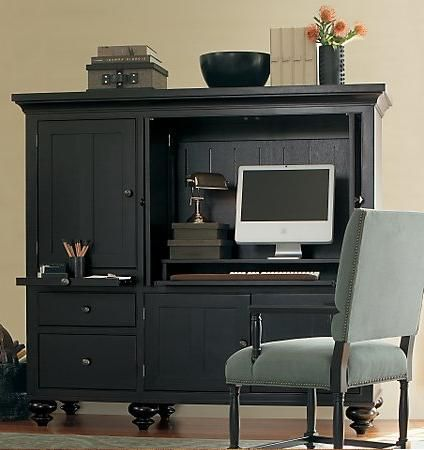 Home office remodeling, Lincoln, NE: Computer armoire. | Office ...