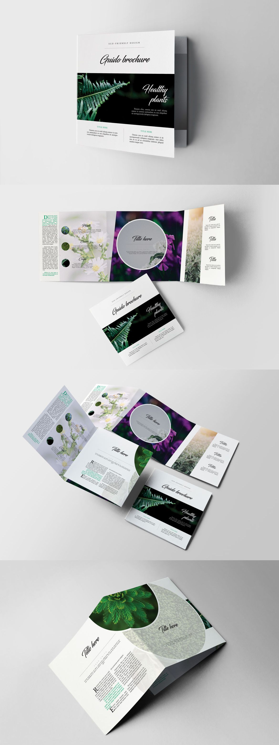 Eco Garden Square Brochure Template InDesign INDD | Co. Brochure Ins ...
