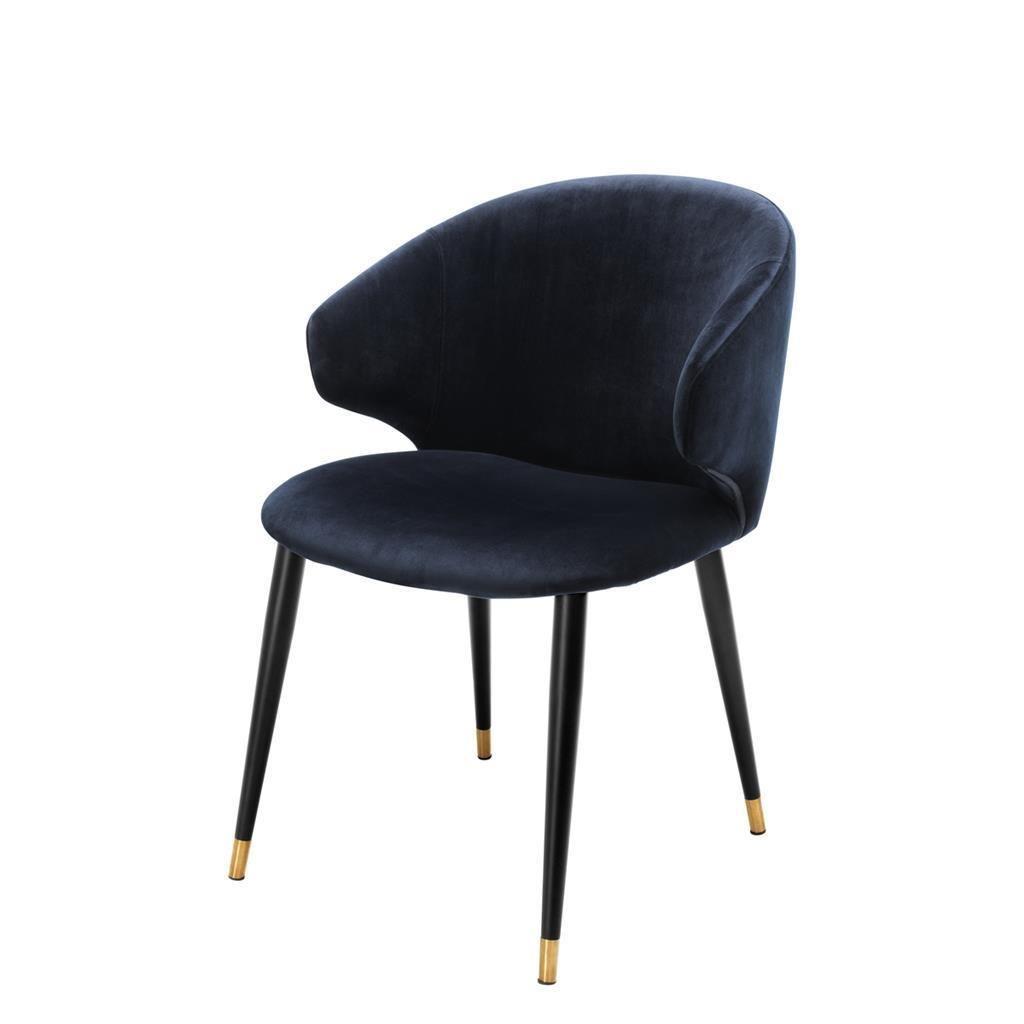 Blue Velvet Dining Chair Eichholtz Volante In 2020 Blue Dining Chair Blue Velvet Dining Chairs Dining Chairs