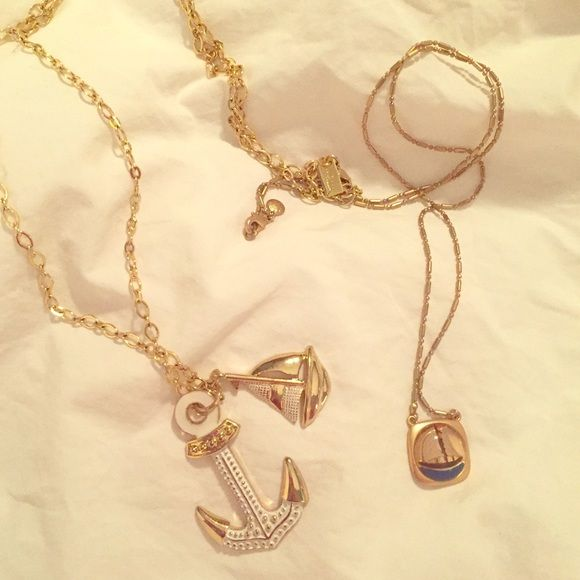 Lilly/J. Crew Nautical Necklace Bundle!⚓️⛵️ Are you a lady of the seas? Thought so. Check out this nautical necklace duo- Lilly Pulitzer anchor/sailboat gold chain necklace and a J. Crew vintage style gold sailboat pendant. Lilly necklace retail: $68/ J. Crew necklace retail: $39 ⚓️⚓️⚓️ahoy!!!!  Lilly Pulitzer Jewelry Necklaces