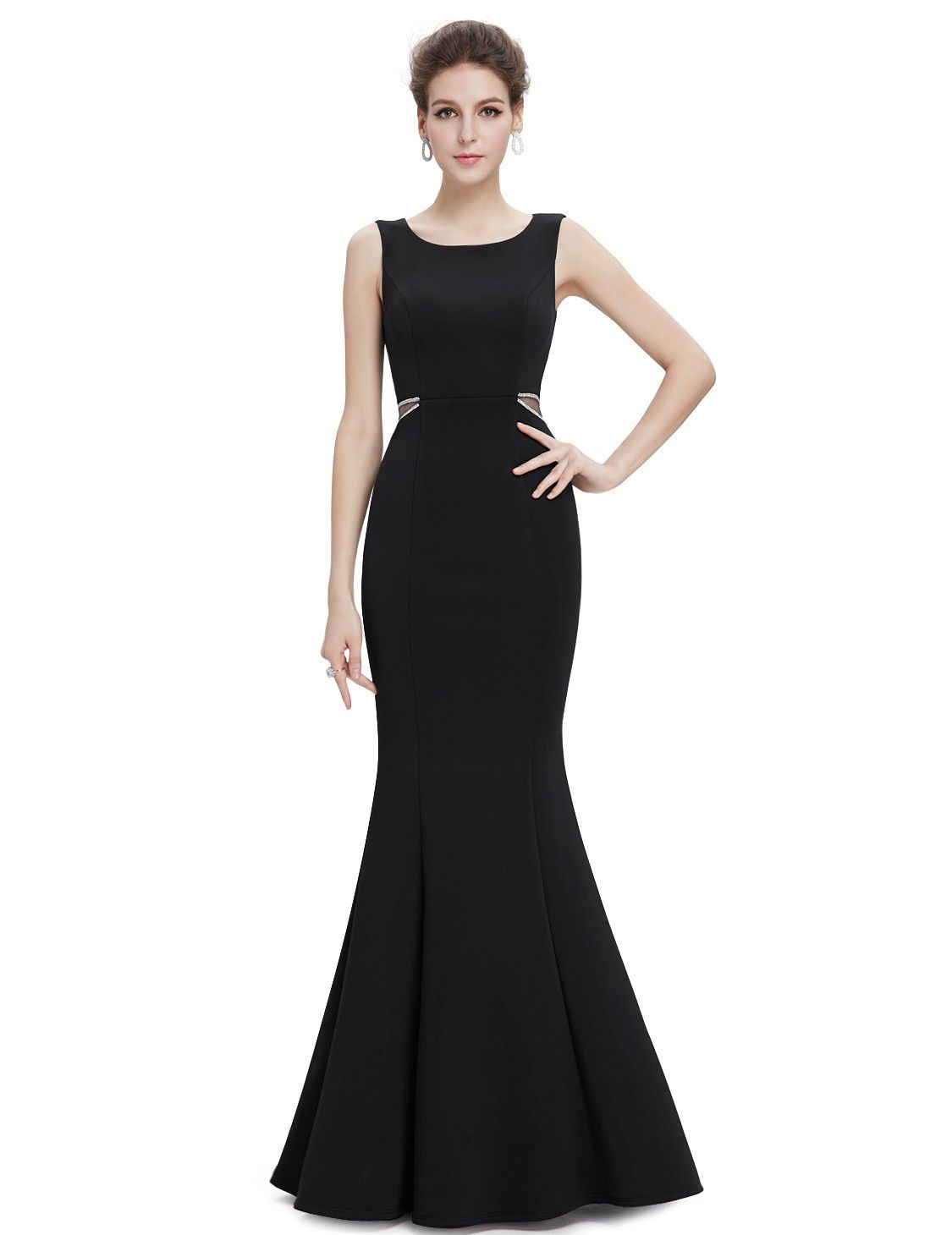 c0cebe74194 Sexy Fitted Mermaid Evening Dress with Sheer Panels in 2019