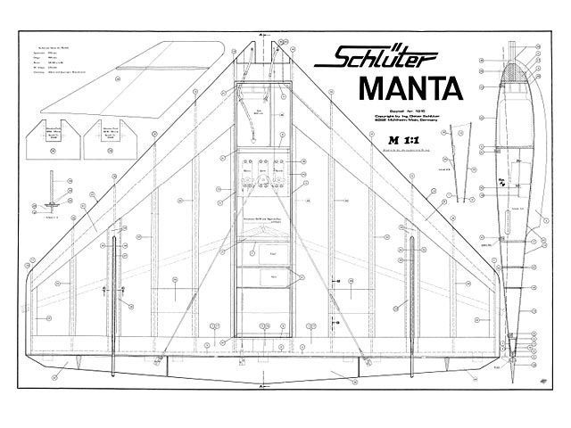 Manta Plan Thumbnail Model Airplanes Model Aircraft How To Plan