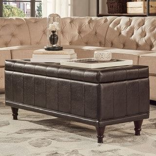 Extra Long Storage Bench St Ives Lift Top Faux Leather Tufted Storage Benchinspire Q