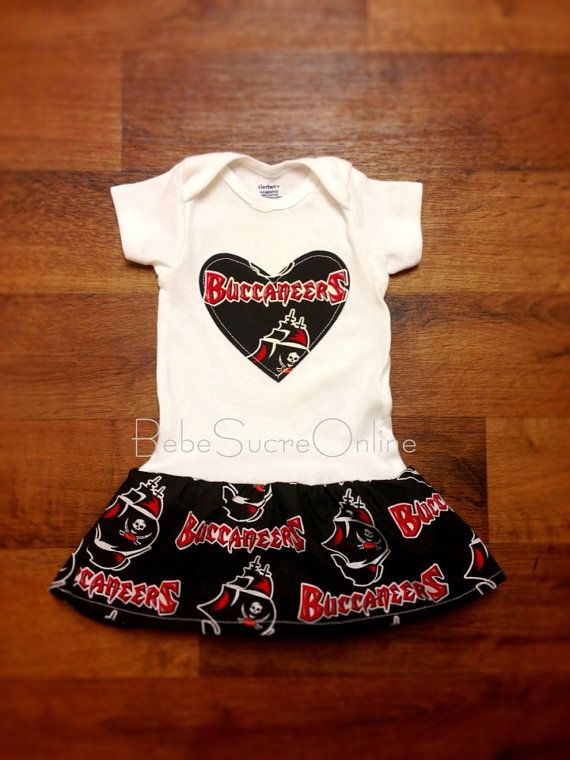 c2c54b1a Tampa Bay Buccaneers Baby Girl's Dress | kiddos | Tampa bay ...