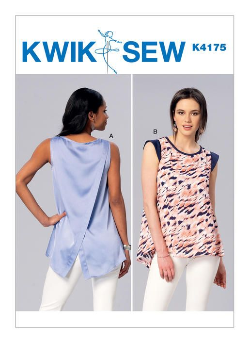 Kwik Sew sewing pattern K4175. Misses\' Sleeveless or Cap Sleeve ...