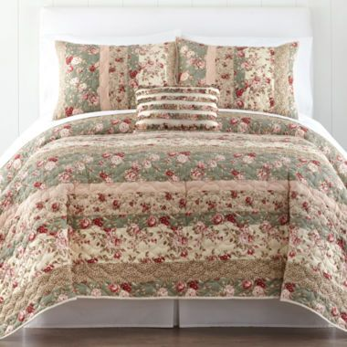 Home Expressions™ Sweet Floral Quilt U0026 Accessories Found At @JCPenney.  Bedroom LinensFloral QuiltsMedallion QuiltMaster ...