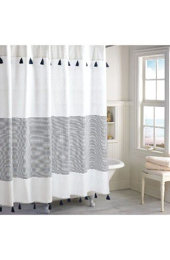 PERI HOME Peri Home Panama Stripe Shower Curtain Available At #Nordstrom