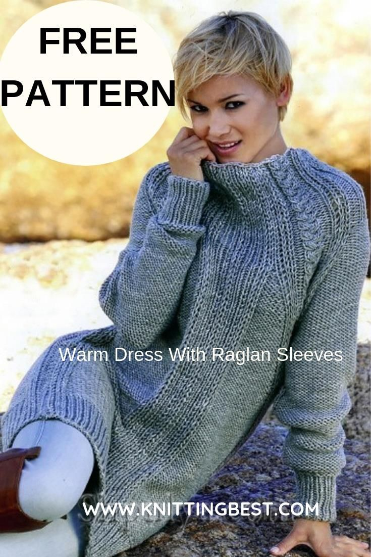 29b703752d37 Warm Dress With Raglan Sleeves Sizes  38-40 (44-46). Dress length ...