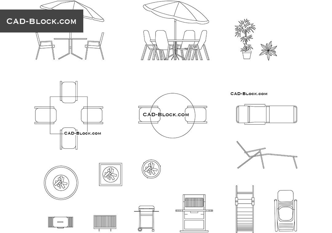 Outdoor Furniture Free Cad Drawings