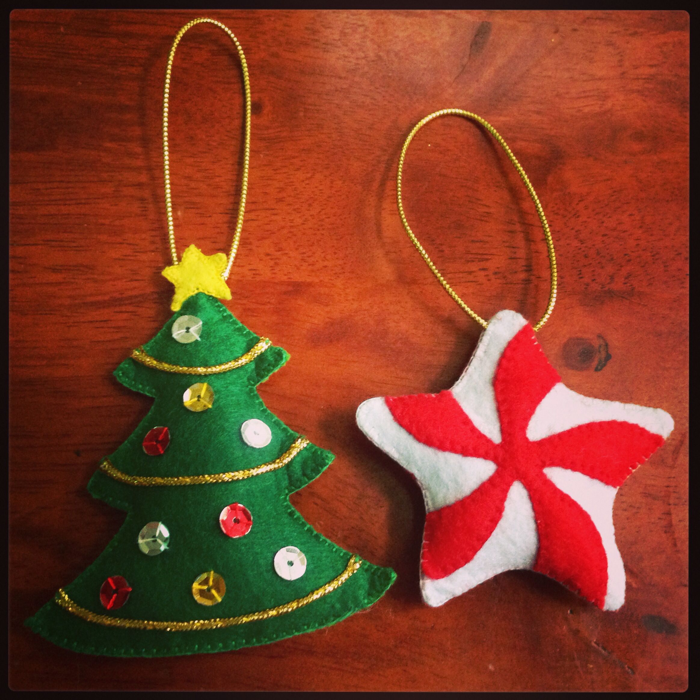 Handmade Fabric Christmas Tree Decorations Google Search Fabric Christmas Trees Christmas Ornaments Felt Christmas Decorations
