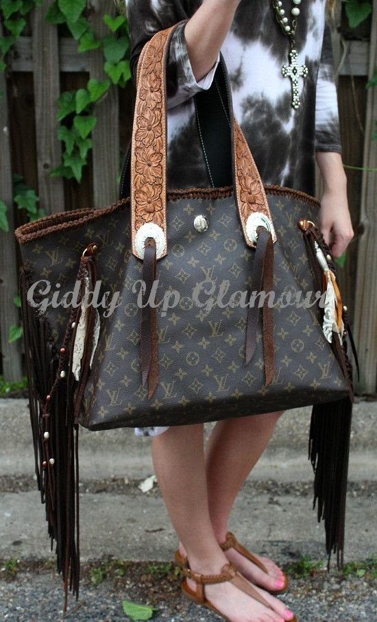 Leather and Vodka Geronimo Bag with Tooled Flower Straps  1d5b4bd7b80b7