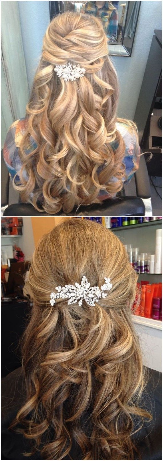 half up and half down wedding hairstyles to get you inspired