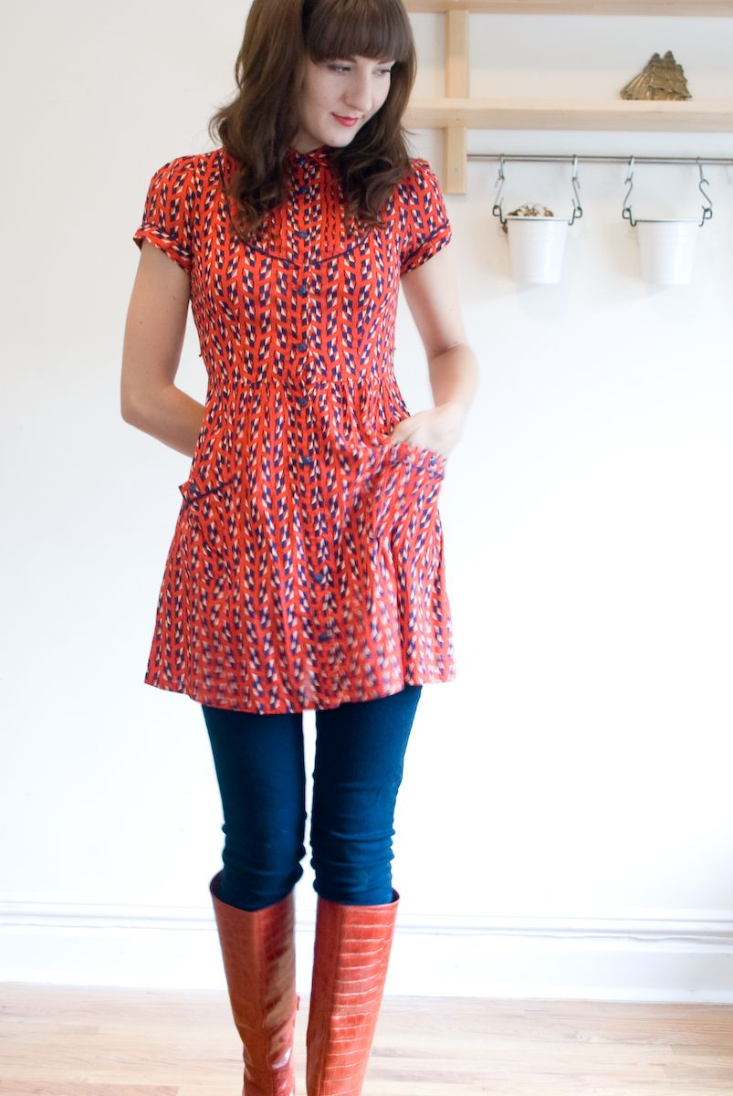 Mini Dress Over Skinny Jeans Perfect For Those Dresses That Are Too Short