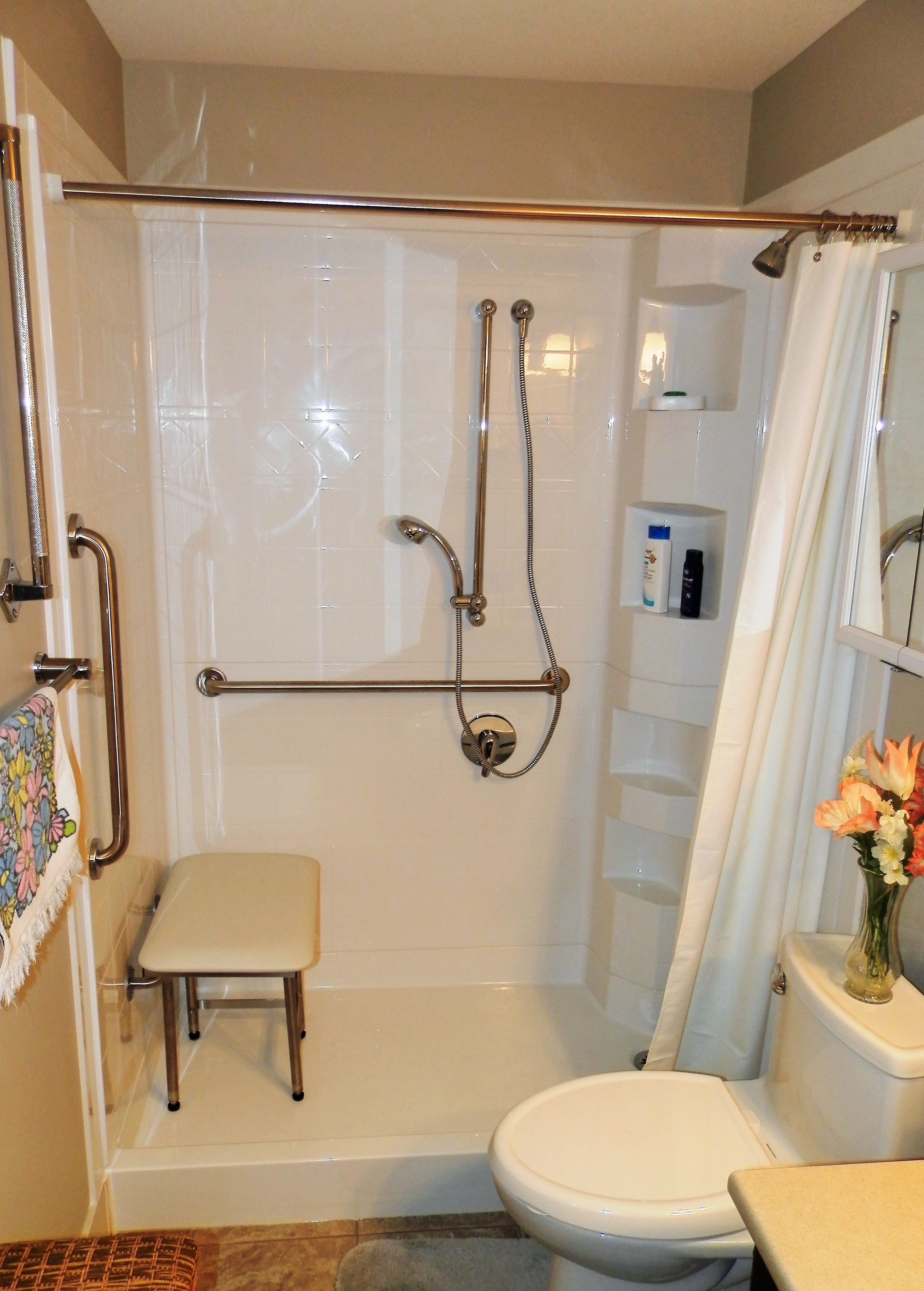 Best bath piece shower system with standard threshold corner