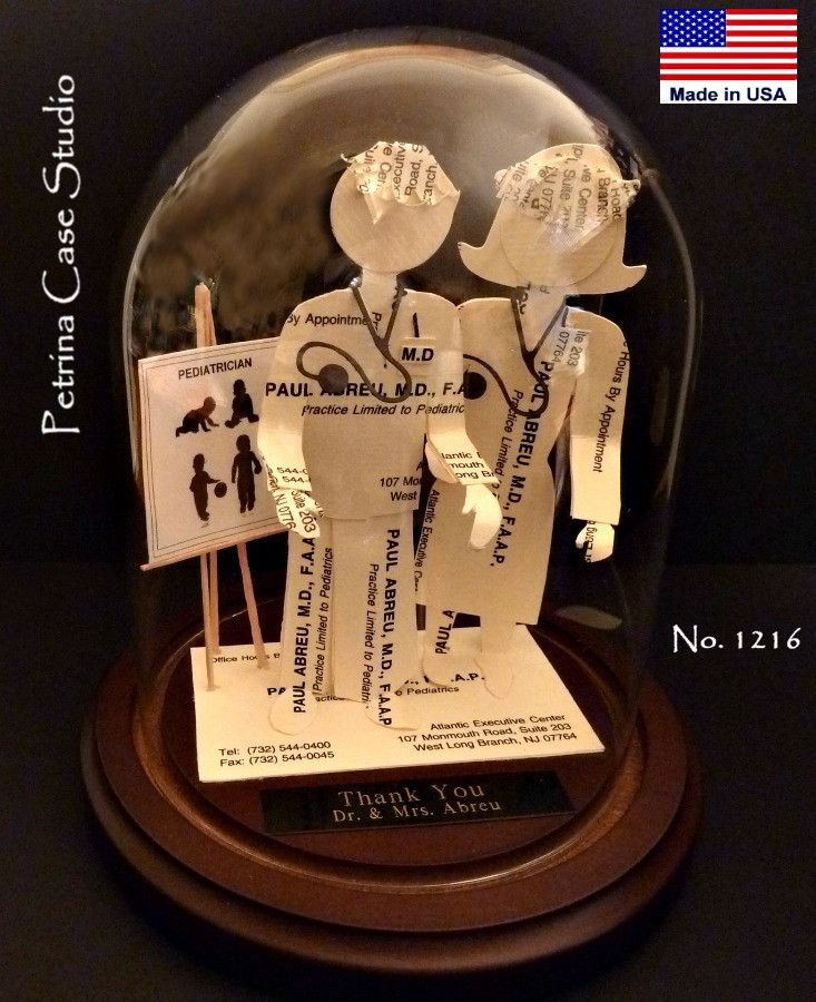 Dr and Nurse Business Card Sculpture. Made from 20 cards you send ...