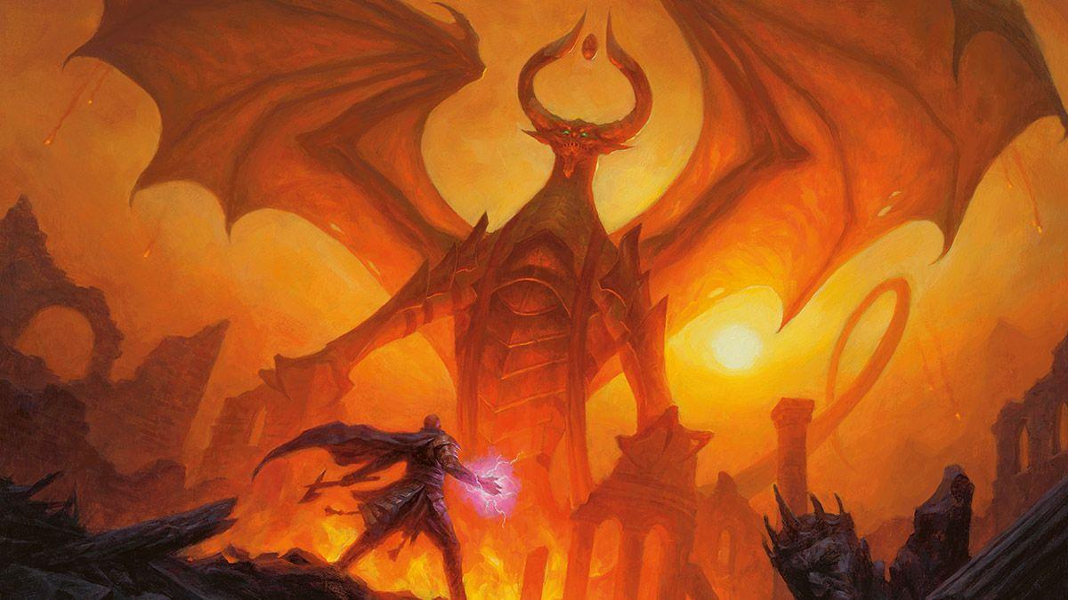 Nicol Bolas Dragon God From Magic The Gathering Nicolbolas Dragongod Magicthegathering Magic Mtg Mtgwar Warofthespar Mtg Art Magic Art Fantasy Dragon