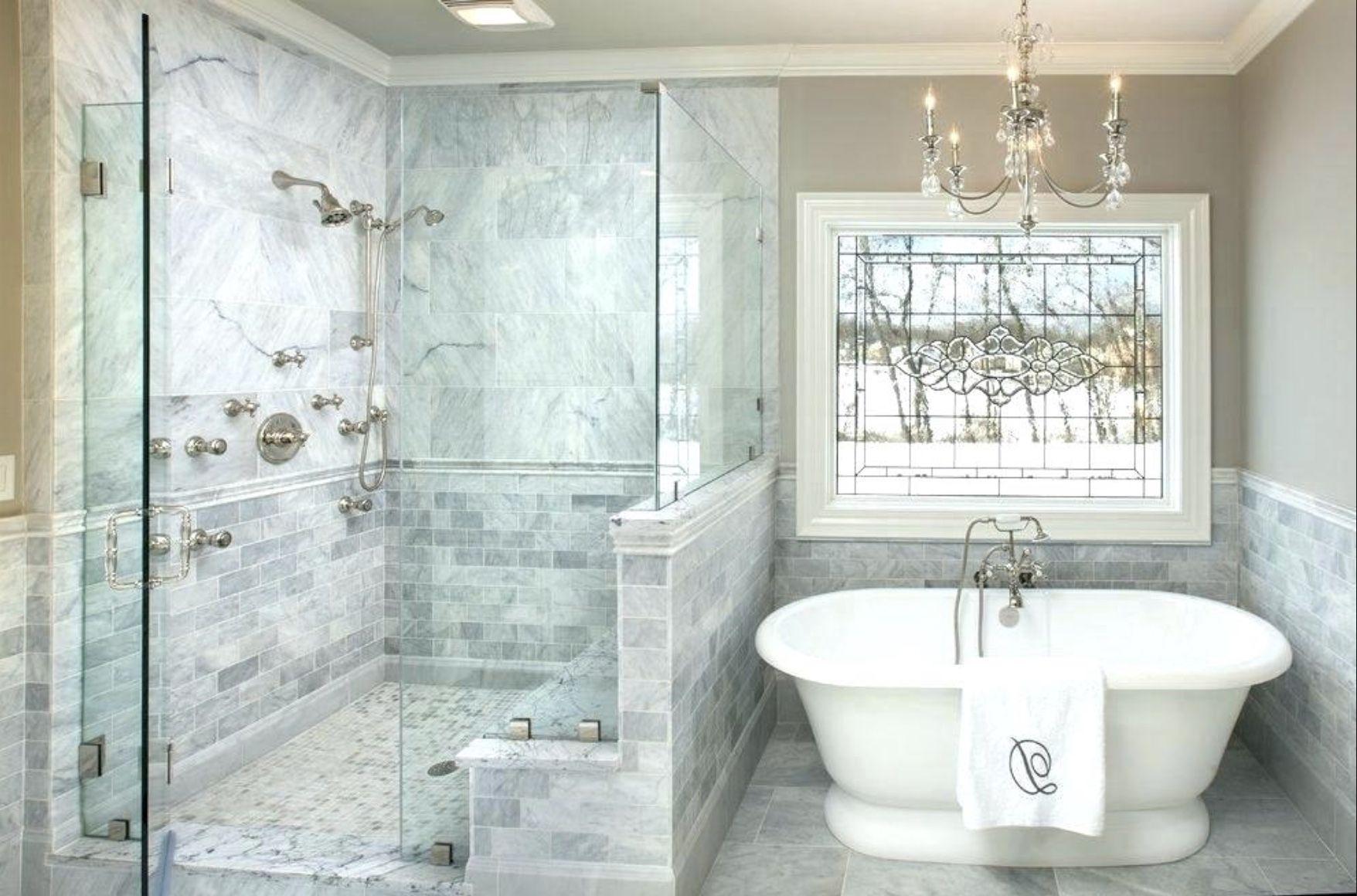 Shower Pony Wall Half Wall Shower Traditional Bathroom Marble Bathroom