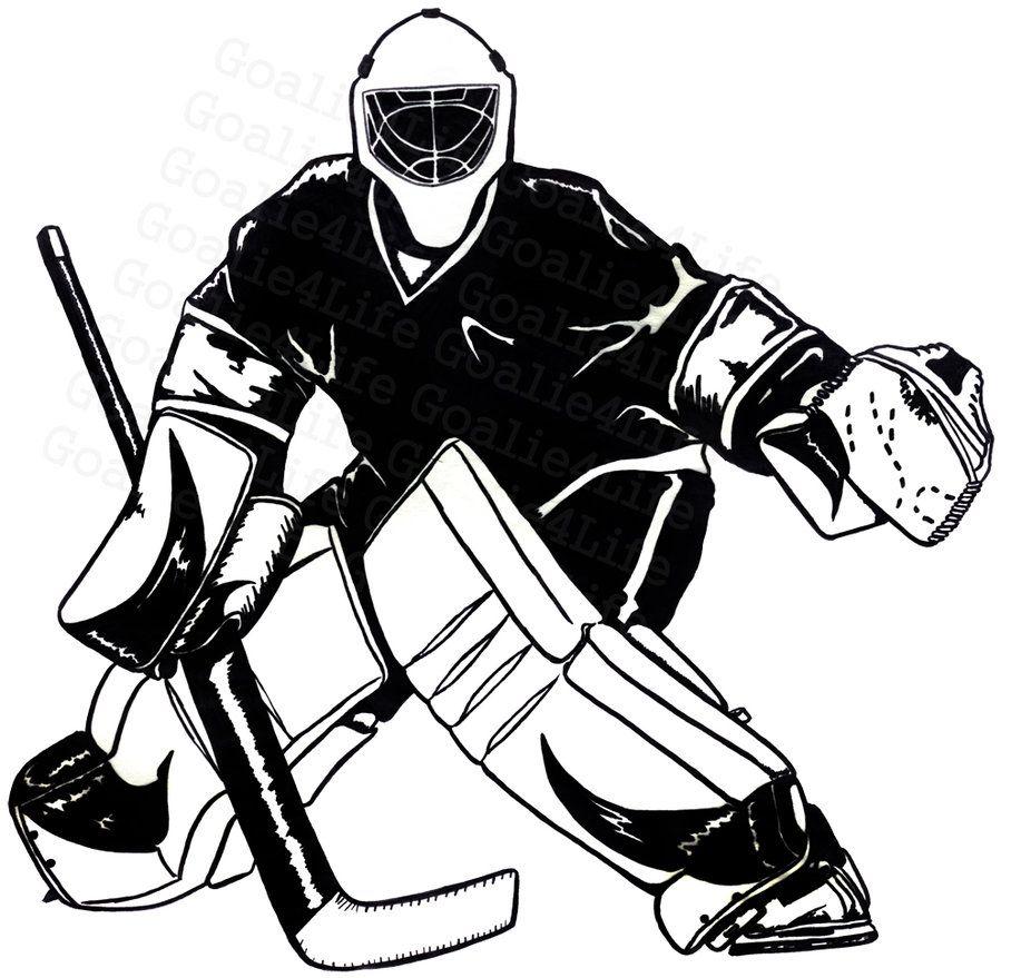 free hockey images clipart Hockey tournaments, Goalie