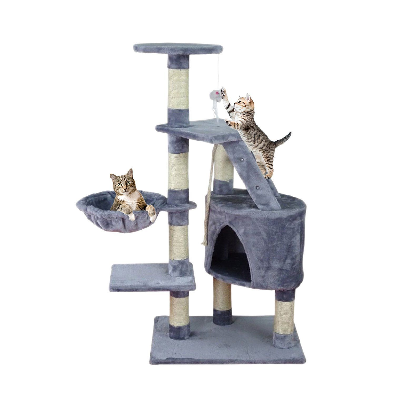 Centro De Actividad En Forma De Arbol Para Gatos Rascador Juguete