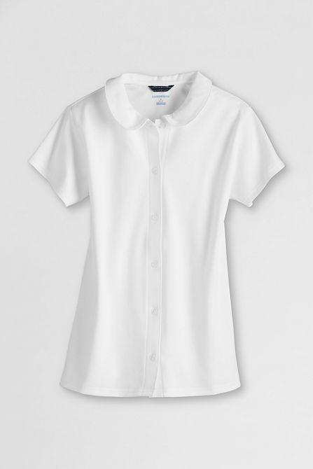 8185872504473 School Uniform Short Sleeve Peter Pan Knit Top from Lands  End ...