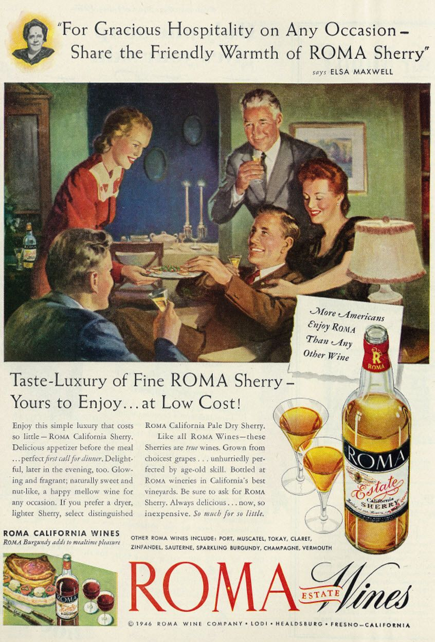 Ads Food Drinks Drinks Alcohol Vintage Retro Wine Sherry Port Wines Sherry Wine And Spirits